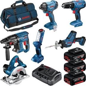 Bosch 6pc 18V Light Series Tool Kit (3x 4Ah)
