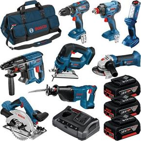 Bosch 8pc 18V Dynamic Series Tool Kit (3x 5Ah)
