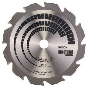 Bosch Construct Wood TCT Saw Blade 190x12x20mm Bore