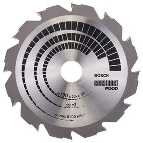 Bosch Construct Wood TCT Saw Blade 190x12x30mm Bore