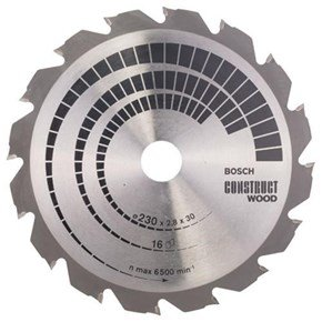 Bosch Construct Wood TCT Saw Blade 230x16x30mm Bore