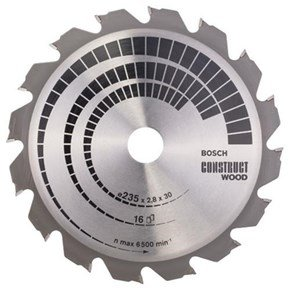 Bosch Construct Wood TCT Saw Blade 235x16x30-25mm Bore