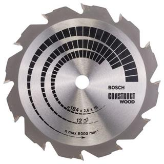 Bosch Construct Wood TCT Saw Blade 184x12x16mm Bore