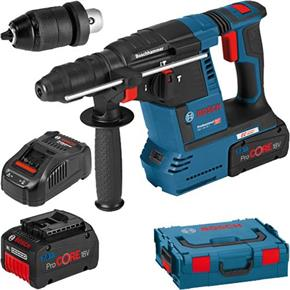 Bosch GBH18V-26F 18V Brushless SDS Drill (2x 7Ah ProCore, Chuck)