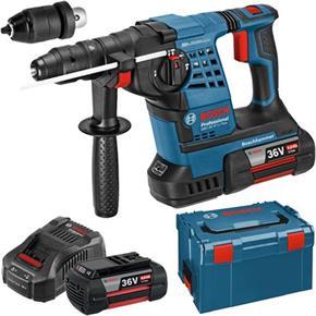 Bosch GBH36VF-Li Plus 36v SDS Drill (2x 4Ah, L-Boxx)