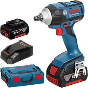 Bosch GDS18VEC 250Nm Impact Wrench in L-Boxx (2x 5Ah)