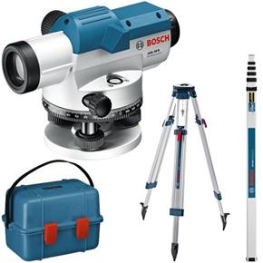 Bosch GOL 26 D Optical Level with Rod + Tripod