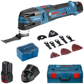 Bosch GOP12V-28 Brushless Multi-Tool Kit (2x 2.5Ah, 12 Accs, L-Boxx)