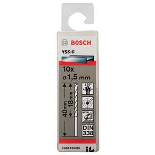 Bosch HSS-G 1.5mm dia Drill Bits (10 pack)