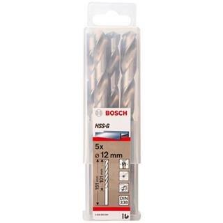 Bosch HSS-G 12mm dia Drill Bit (5pk)