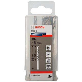 Bosch HSS-G 5mm dia Drill Bits (10 pack)