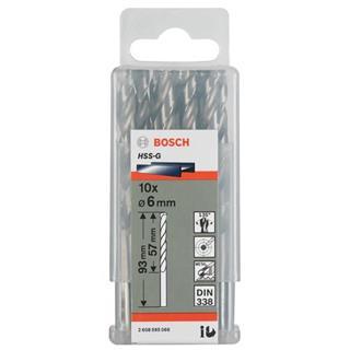Bosch HSS-G 6mm dia Drill Bits (10 pack)