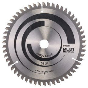 Bosch Multi Material TCT Saw Blade 190x54x20-16mm Bore
