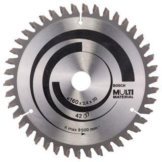 Bosch Multi Material TCT Saw Blade 160x42x16/20mm Bore