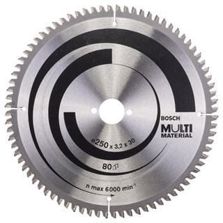 Bosch Multi Material TCT Saw Blade 250x80x30mm Bore