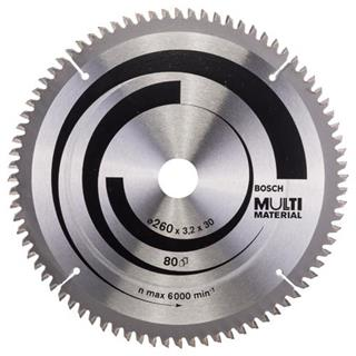 Bosch Multi Material TCT Saw Blade 260mmx80Tx30mm