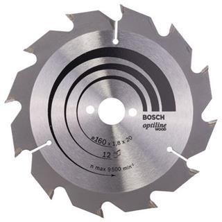 Bosch Optiline Wood TCT Saw Blade 160x12x20mm Bore