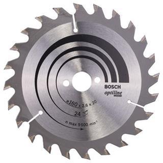 Bosch Optiline Wood TCT Saw Blade 160x24x16mm Bore