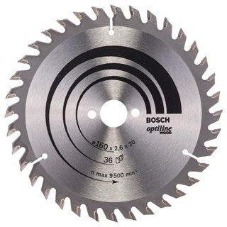 Bosch Optiline Wood TCT Saw Blade 160x36x20mm Bore