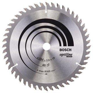 Bosch Optiline Wood TCT Saw Blade 184x48x16mm Bore