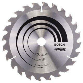Bosch Optiline Wood TCT Saw Blade 190x24x20/16mm Bore