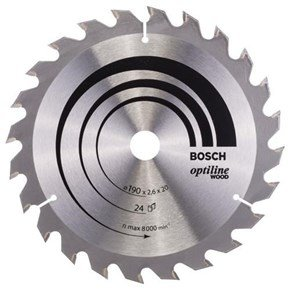 Bosch Optiline Wood TCT Saw Blade 190x24x20/16mm Bore