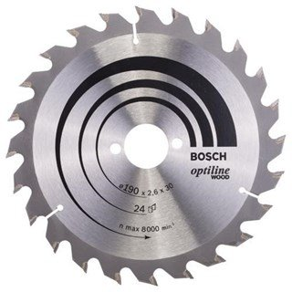 Bosch Optiline Wood TCT Saw Blade 190x24x30mm Bore