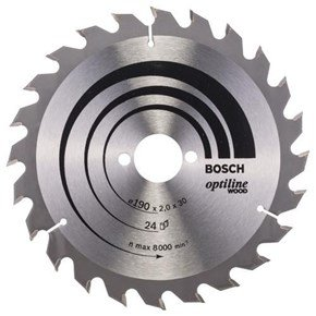 Bosch Optiline Wood TCT Saw Blade 190x24x30mm Bore