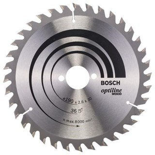 Bosch Optiline Wood TCT Saw Blade 190x36x30mm Bore