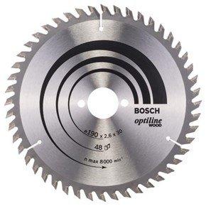 Bosch Optiline Wood TCT Saw Blade 190x48x30mm Bore