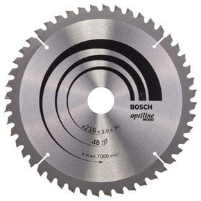 Bosch Optiline Wood TCT Saw Blade 216x48x30mm Bore