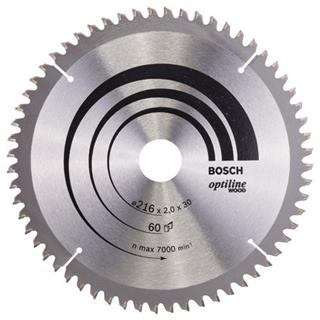 Bosch Optiline Wood TCT Saw Blade 216x60x30mm Bore