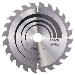 Bosch Optiline Wood TCT Saw Blade 230x24x30mm Bore