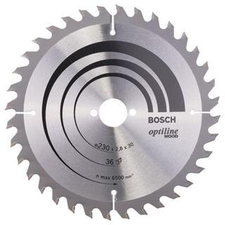 Bosch Optiline Wood TCT Saw Blade 230x36x30mm Bore