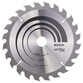 Bosch Optiline Wood TCT Saw Blade 235x24x30mm Bore