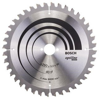 Bosch Optiline Wood TCT Saw Blade 250x40x30mm Bore