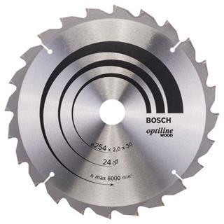Bosch Optiline Wood TCT Saw Blade 254x24x30mm Bore
