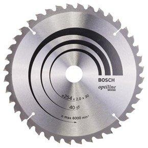Bosch Optiline Wood TCT Saw Blade 254x40x30mm Bore