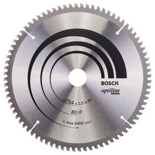 Bosch Optiline Wood TCT Saw Blade 254x80x30mm Bore