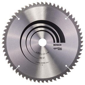 Bosch Optiline Wood TCT Saw Blade 305x60x30mm Bore