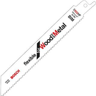Bosch S922HF Sabre Saw Blade Wood+Metal (5pk)