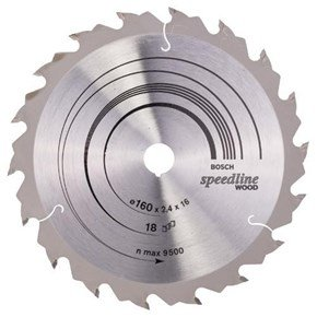 Bosch Speedline Wood TCT Saw Blade 160x18x16mm Bore