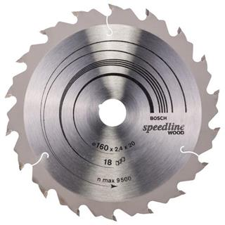 Bosch Speedline Wood TCT Saw Blade 160x18x20mm Bore
