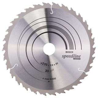 Bosch Speedline Wood TCT Saw Blade 235x30x30mm Bore