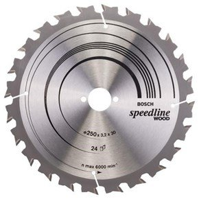 Bosch Speedline Wood TCT Saw Blade 250x24x30mm Bore