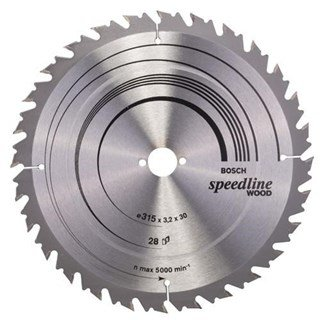 Bosch Speedline Wood TCT Saw Blade 315x28x30mm Bore