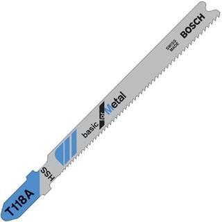 Bosch T118A Jigsaw Blade for Metal (5pk)