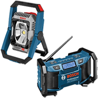 Bosch Work Lights & Radios