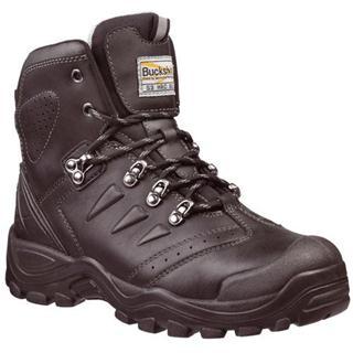 Buckler BSH007BK Black Leather Lace Boot