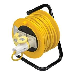 Cable Reel (110v, 2 Sockets, 25m Cable)